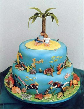island wedding cakes monkey engagemnt cake search wedding cakes 16499