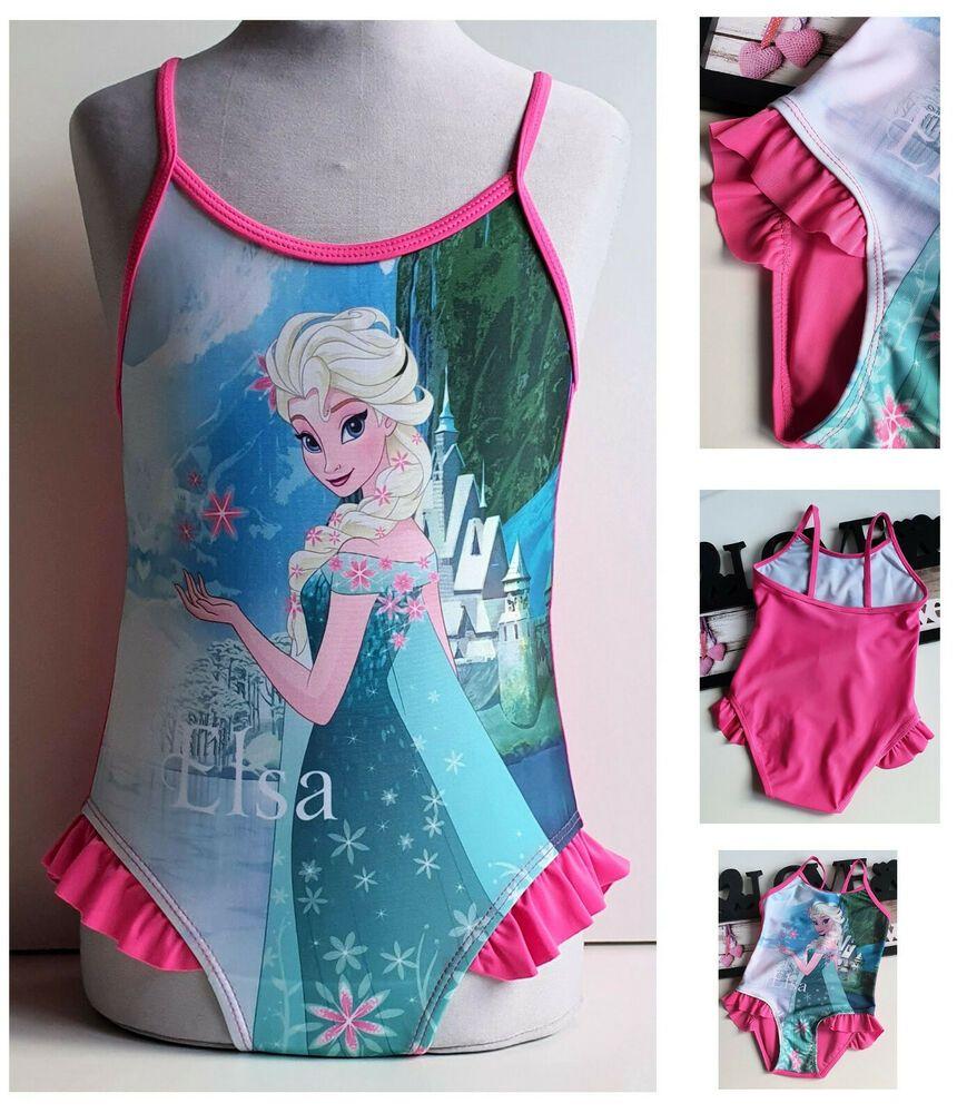 Disney Frozen Elsa Und Anna Die Eiskonigin Kinder Madchen Badeanzug Gr 110 116 In 2020 Kinder Kleidung Badeanzug Madchen Badeanzug