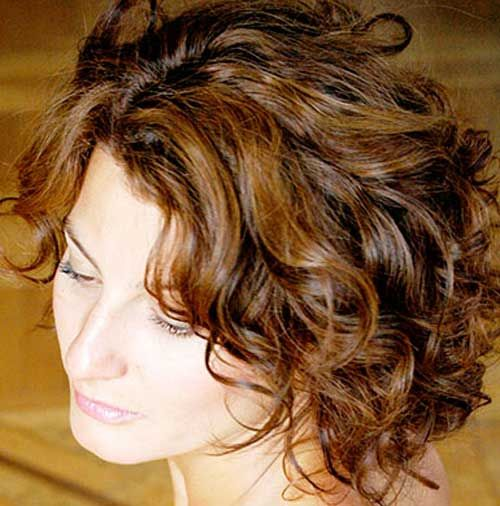 12 Short Hairstyles for Curly Hair  For women Short brown hair