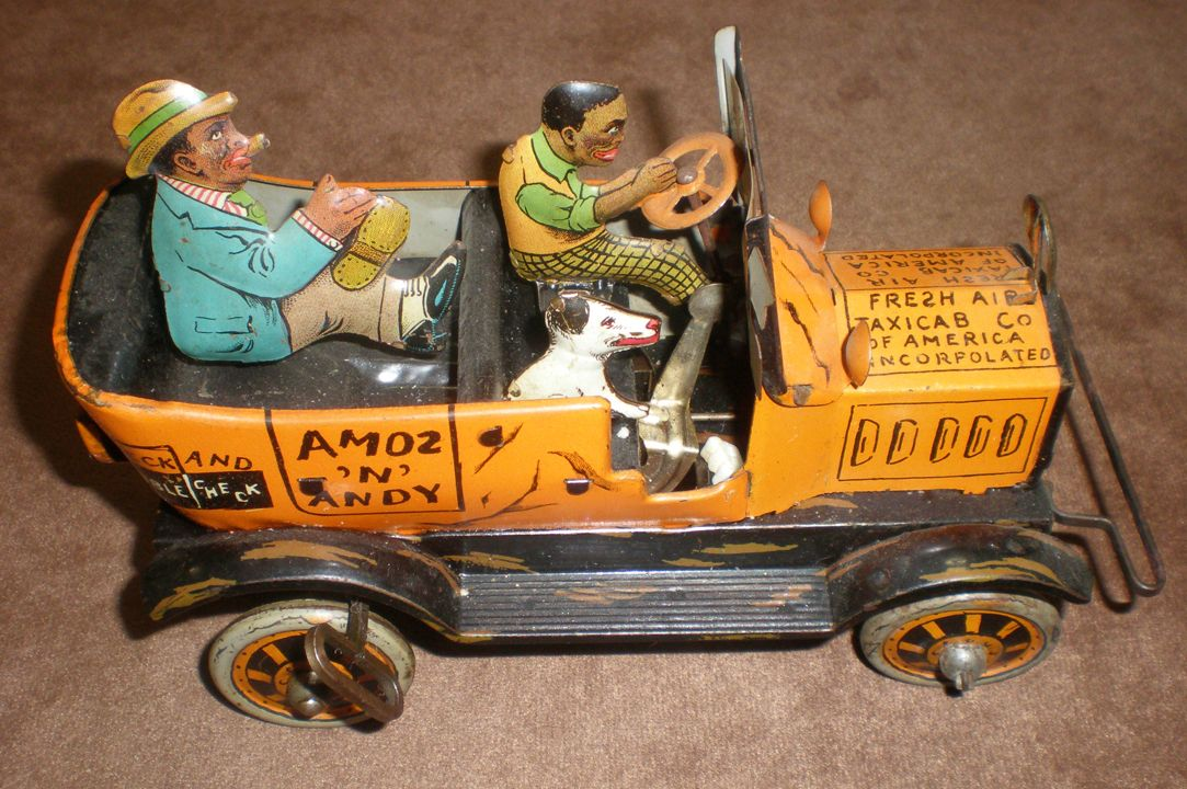 """Amos """"n"""" Andy BJ335  Fresh Air Taxi Cab Co. by Marx. c1930's. Amos """"n"""" Andy. All original and complete. Still works!"""
