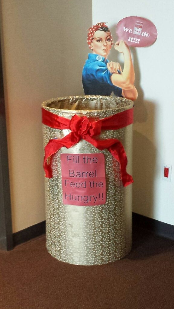 Pin by michelle massaro on food drive collection barrel