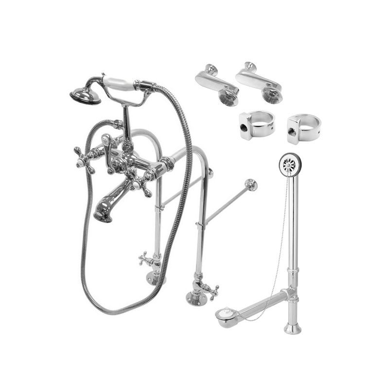 Kingston Brass Cck510ax Vintage Tub And Shower Trim Package With