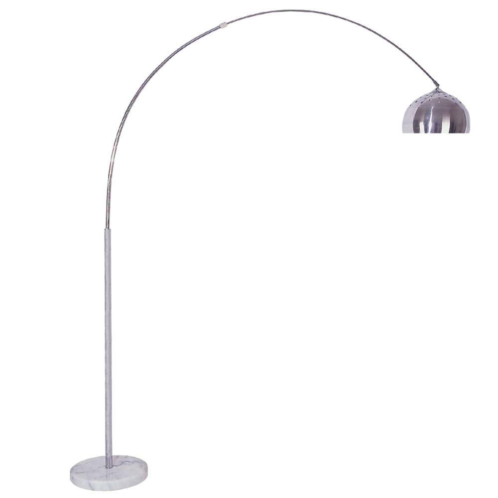 Ore International 85 In Arch Marble Base Silver Floor Lamp 6935 Silver Floor Lamp Floor Lamp Arc Floor Lamps