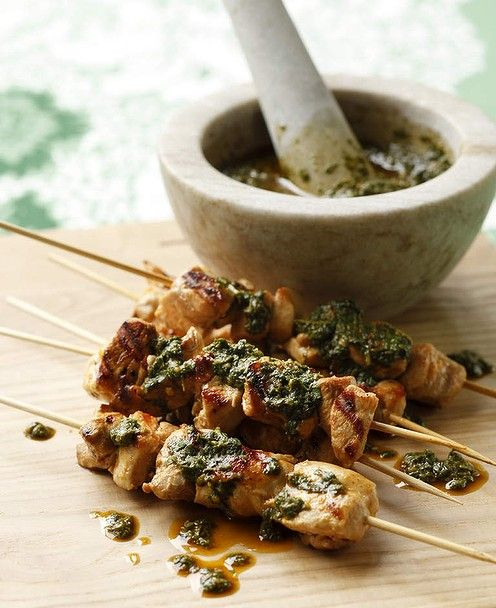 Chicken Skewers With Chermoula Main Dishes Chicken Iii