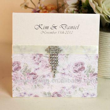EA476---classical lace wedding invitations