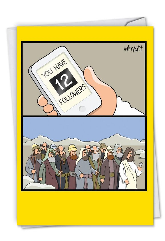 Funny Jesus T Shirt At Bus Stop Birthday Card NobleworkscardsCom