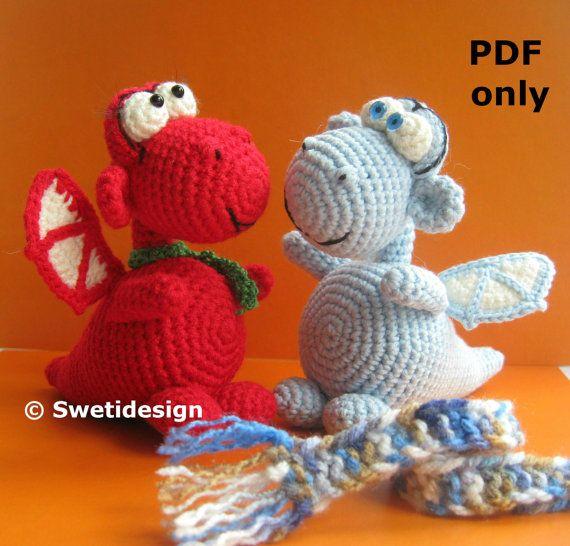 Crochet PATTERN No 1903 Black Dragon by Krawka (mit Bildern ... | 546x570