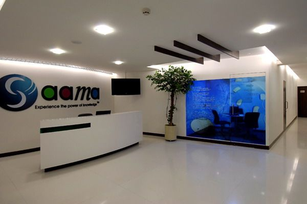 Modern reception counter office interior design - Office Design ...