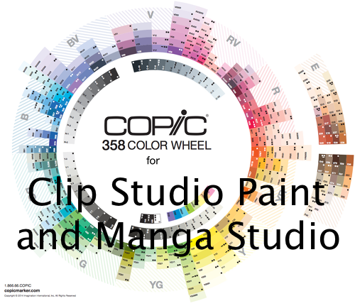 358 Copic Color Set For Clip Studio Paint By Kayleefuzzyhat Art