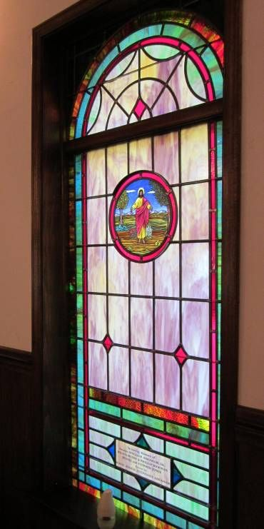 Stained Glass Windows At Hickory Grove Baptist Church In