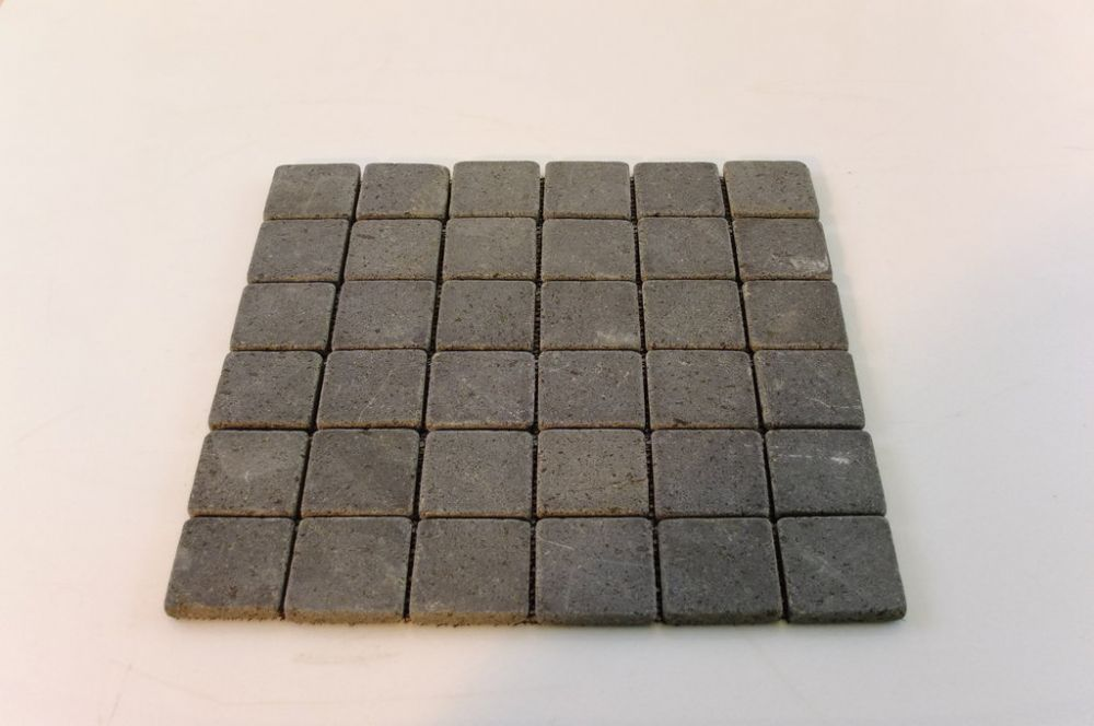 Black Tumbled Basalt 30mm By Mosaic Floor Marble Is A Stylish Use Of Small Pieces Tile Saves The Tedious Work