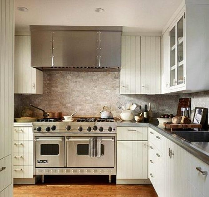Backsplash Ideas For White Kitchen Cabinets Part - 15: Image Of: Black And White Kitchen Backsplash Ideas
