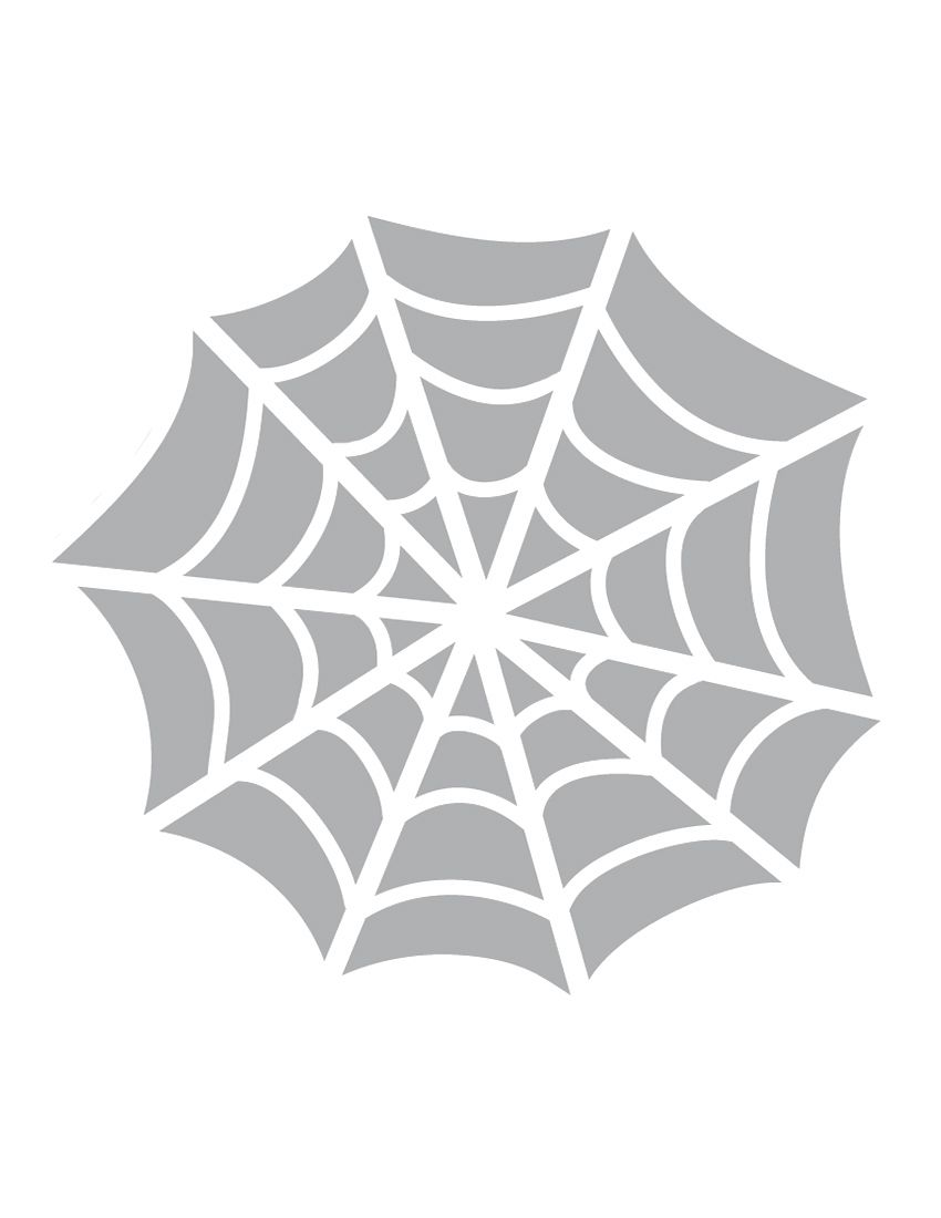 printable spider web stencil coolest free printables october
