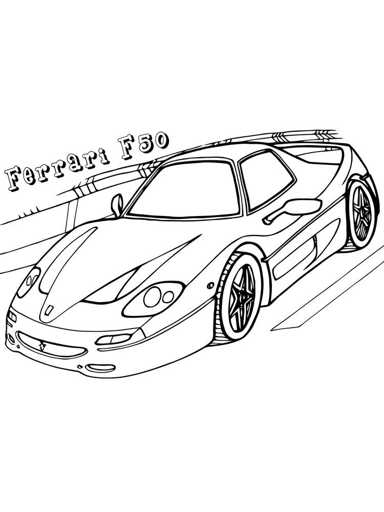 Ferrari Coloring Pages Printable Free Ferrari Is One Of The Manufacturers Of Supercar Cars Origi In 2020 Birthday Coloring Pages Unicorn Coloring Pages Coloring Pages