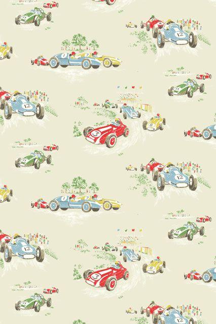Cath Kidston Vintage Racing Car Wallpaper Kids Wallpaper In 2018 Cute Papers Pinterest Kids