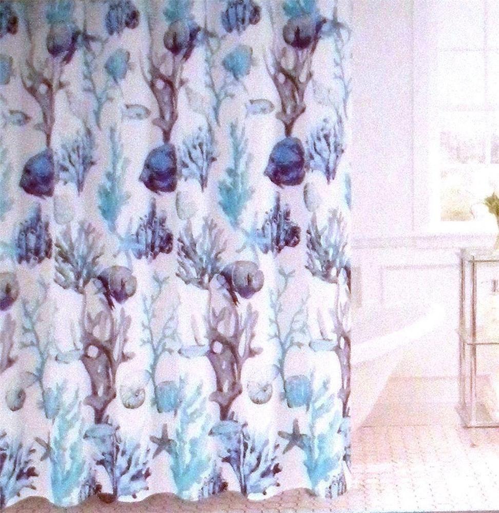 Windsor Home Fabric Shower Curtain Fish Coral Starfish Ocean ...