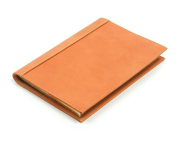 Orange leather journal - Personalized orange leather journal