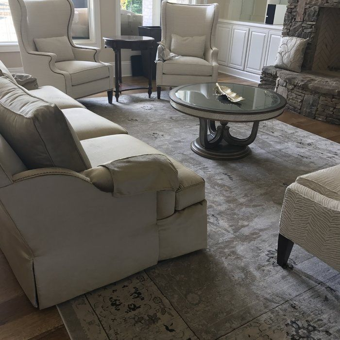 Talmont Light Gray/Ivory Area Rug In 2020