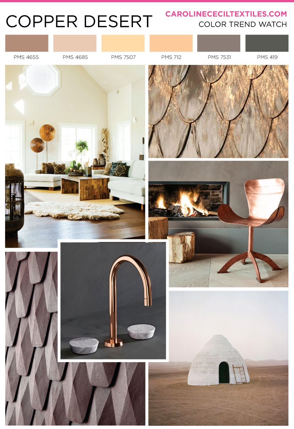 carolinececiltextiles trend inspiration. Copper | Textiles | Fashion ...