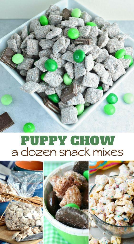A Dozen Puppy Chow Chex Mix Recipes Puppy chow recipes