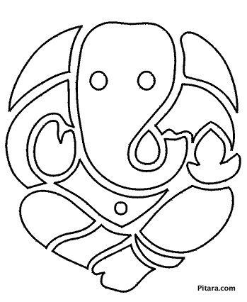 Lord Ganesha Coloring Page Ganesh Art Ganesha Ganesha Painting