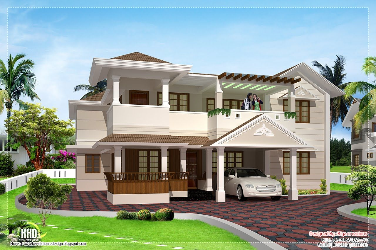 Elegant Mansion House Plans 8 Bedrooms | 3200 Sq.feet Two Floor House Design