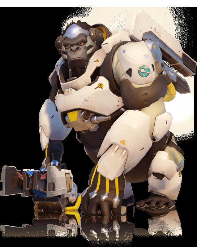 A Genetically Engineered Gorilla And Brilliant Scientist Overwatch Gaming Overwatch Winston Overwatch Gorillas Art