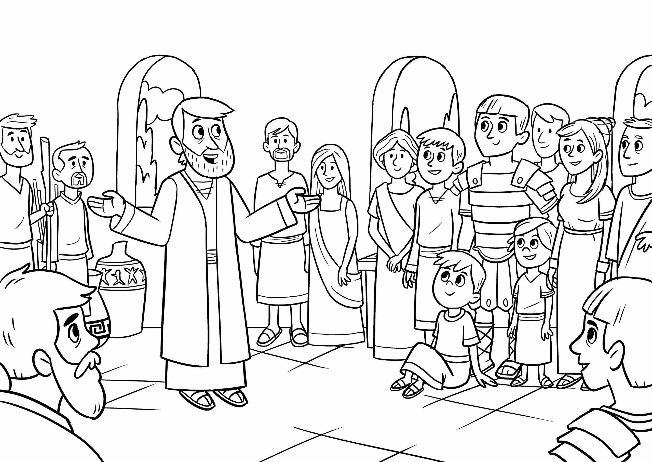 Peter and Cornelius Coloring Page New Coloring Pages Peter