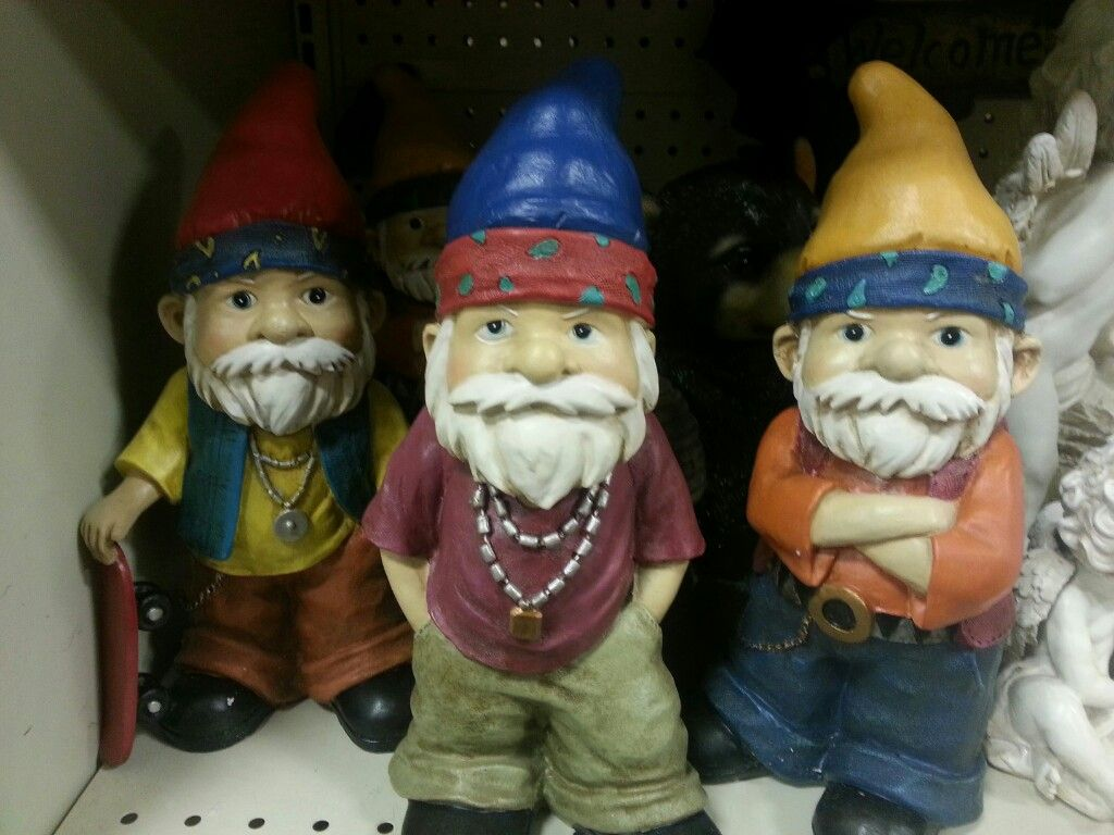 Funny Gnomes: Gangster Gnomes-apparently They Sell At Fred Meyer And