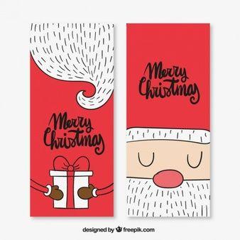 Cartões De Natal Agradável De Papai Noel