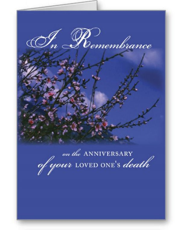 Remembrance on anniversary of loved one greeting card love one remembrance on anniversary of loved one greeting card m4hsunfo
