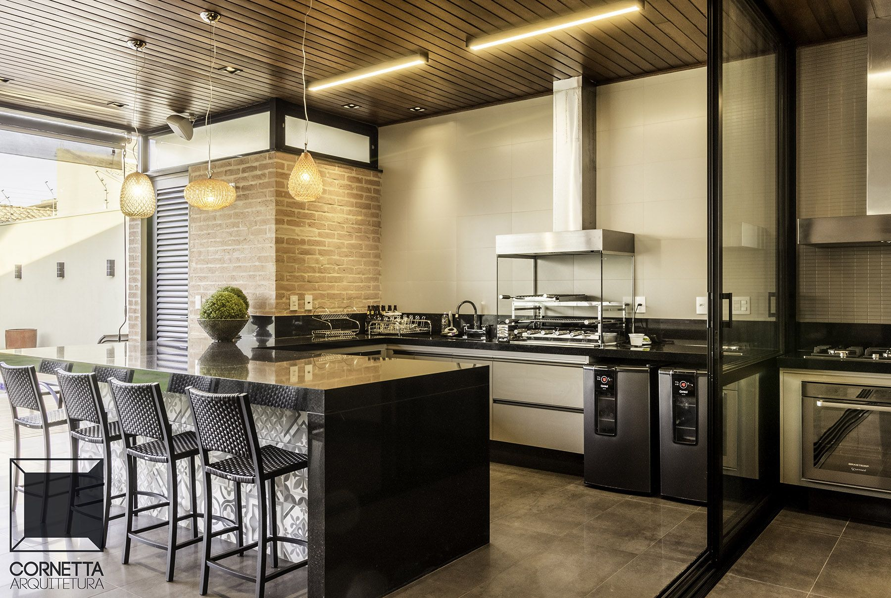Casa Tf Arquitetura Industrial And Kitchens