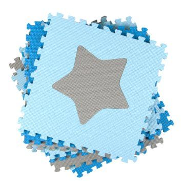 Tadpoles Playmat Set 16-Piece Stars, Blue/Grey: Amazon.ca: Baby