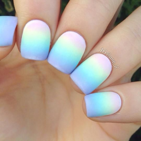 Rainbow Gradient Ombre Acrylic Nails Glow Nails Short Acrylic Nails Designs