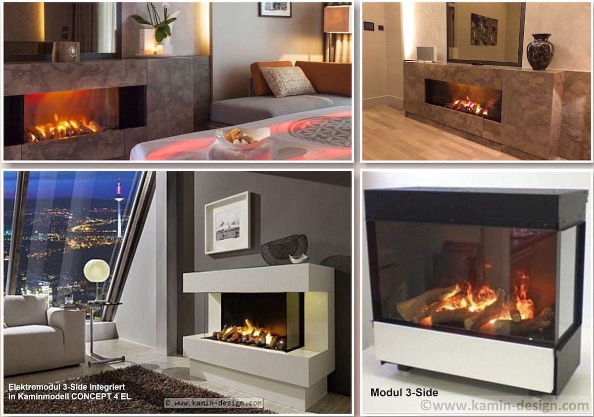 Modul 3side De Luxe Mit Zuschaltbarer Heizung Kamin Design