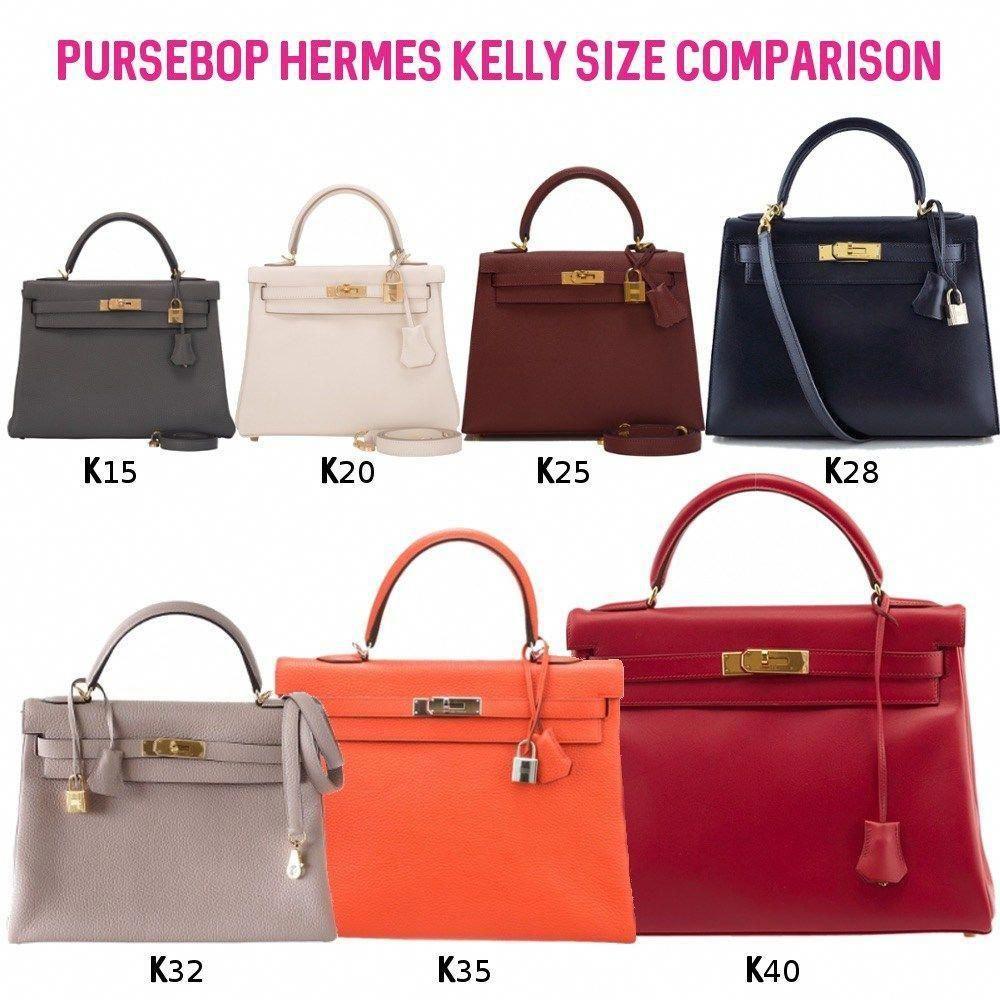 69f0b3a971 Hermes Birkin vs. Kelly 101 - PurseBop most common Kelly sizes 28 ...
