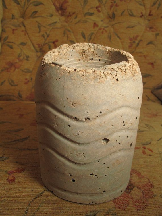 Hypertufa plant pot. Garden ornamental pot / indoor designer plant ...