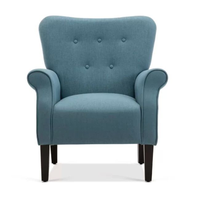 chairs reading chair bedroom thespruce armchair accent living linen decor upholstered