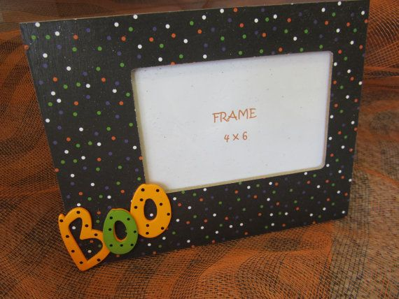 Simple Boo Halloween Picture Frame Crafts Pinterest Halloween