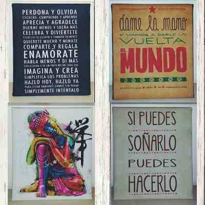 Cuadros Decorativos Frases Vintage Modernos