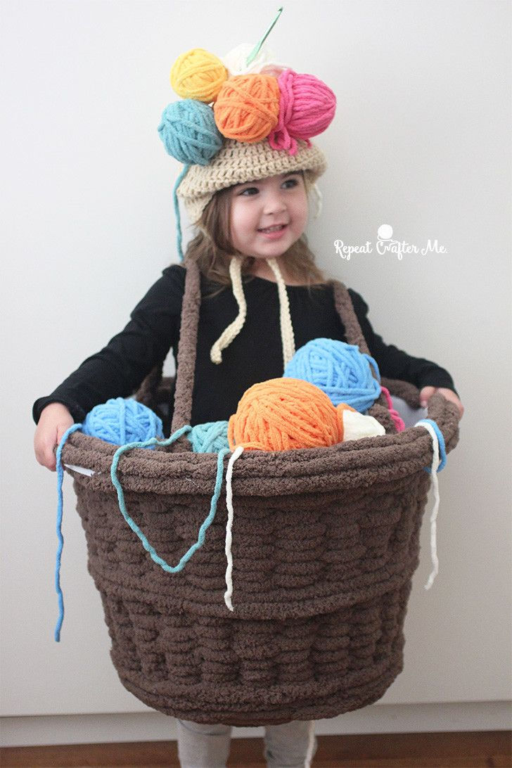 Yarn Basket Halloween Costume Repeat Crafter Me Crochet Patterns