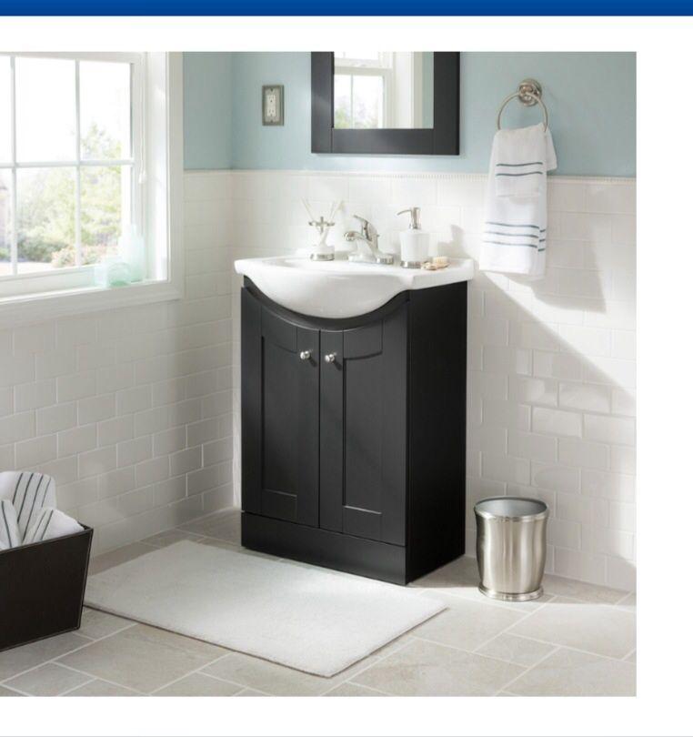 Small sink/vanity $150 at Lowe's | Bathroom vanity ...
