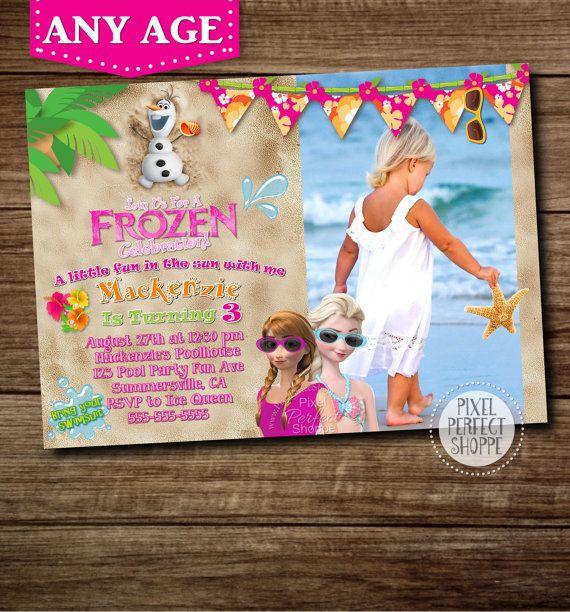 Frozen SUMMER Birthday Invitation Frozen Birthday Party frozen - invitation birthday frozen
