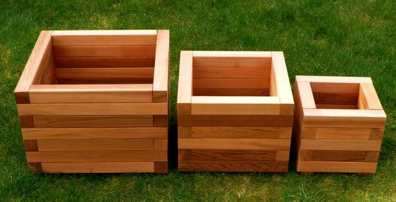 square red cedar planter box jardins bac et pots de fleurs. Black Bedroom Furniture Sets. Home Design Ideas