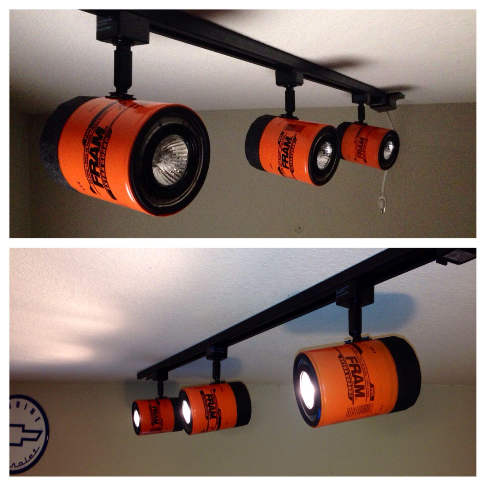 Fram Oil Filers On Track Lighting For Any Home Or Garage Standard Halogen Bulbs