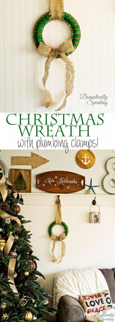 Clamp Christmas Wreath Bloggers\u0027 Best DIY Ideas Pinterest