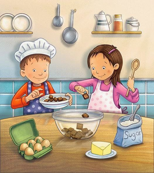 Resultado de imagen para dibujos infantiles ni o cocinando ni os jugando - Cosas para cocinar ...