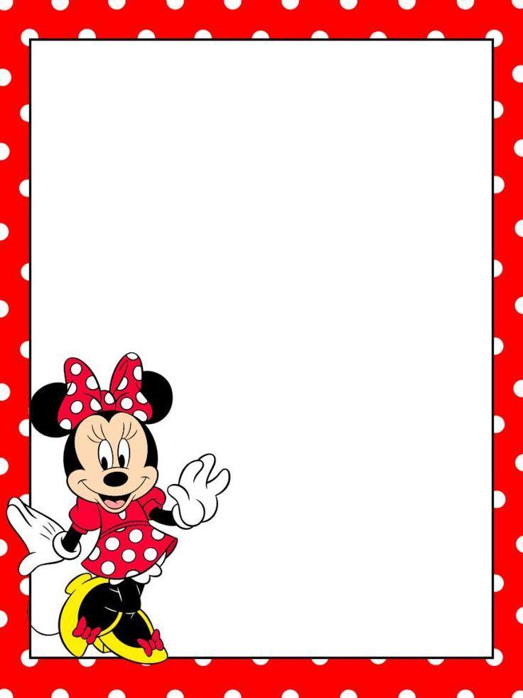 Disney clipart borders Minnie mouse background, Disney