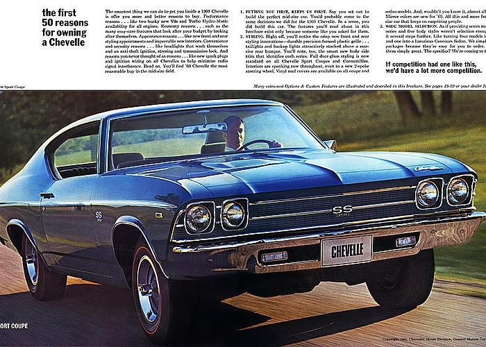 1969 Chevelle Ss 396 Greeting Card for Sale by Digital Repro Depot
