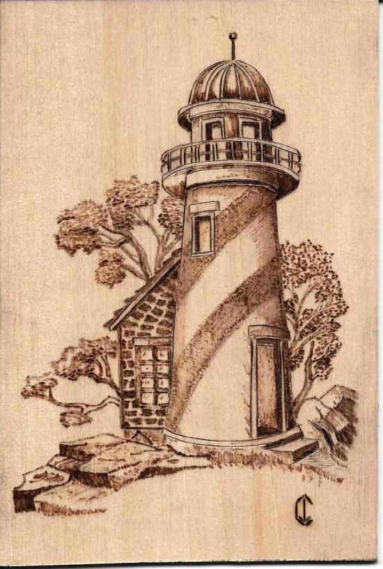Simple Lighthouse Wood Burning Pattern Picture Google